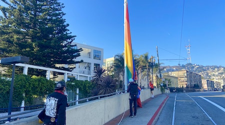 Tom Taylor, 'Keeper of the Rainbow Flag,' honored at Castro's Harvey Milk Plaza