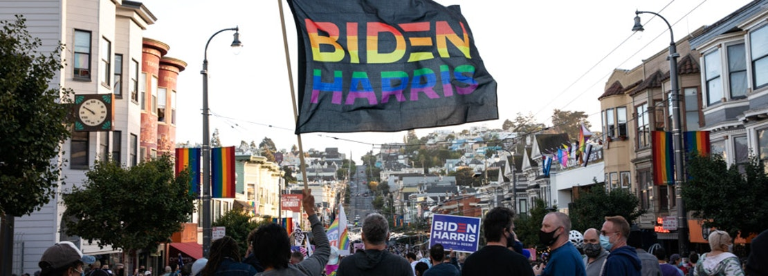 Photos: Celebrations erupted throughout the city after Biden wins presidency
