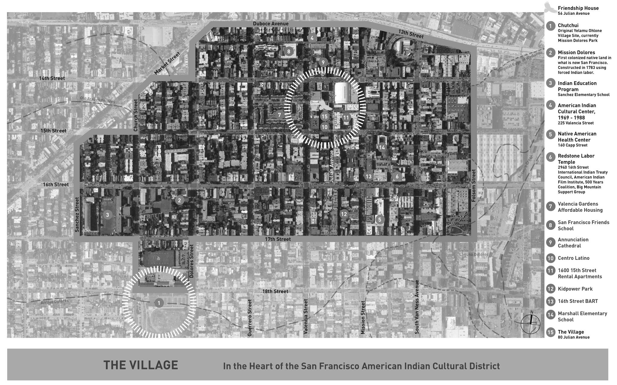 Layout of the American Indian Cultural District is in the Mission District. (Courtesy SF Gov)
