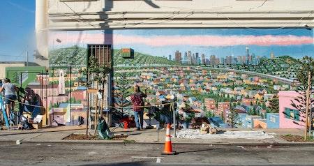 San Bruno Avenue murals celebrate Portola history, offer light during lockdown
