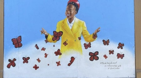 Overnight sensation poet laureate gets a mural in Hayes Valley