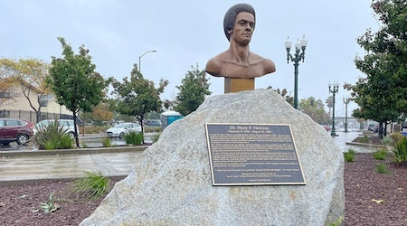 Dr. Huey P. Newton bust debuts in Oakland, becomes city's first permanent art display for Black Panther Party