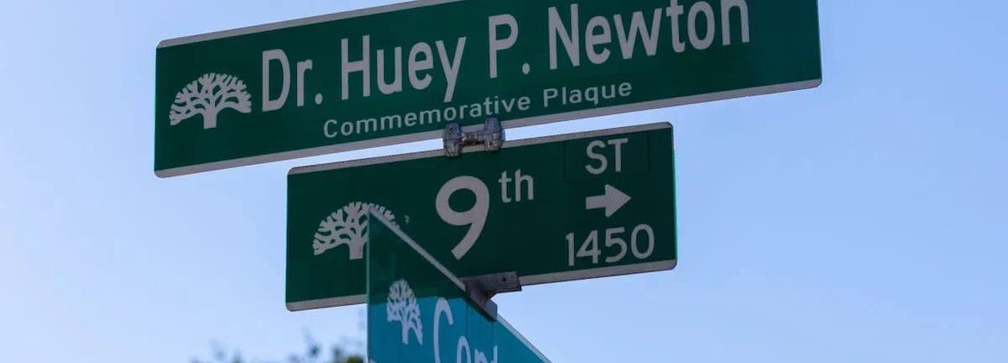 Large stretch of West Oakland street renamed in honor of Black Panther Party co-founder