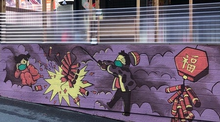 New Chinatown parklet murals ring in Lunar New Year