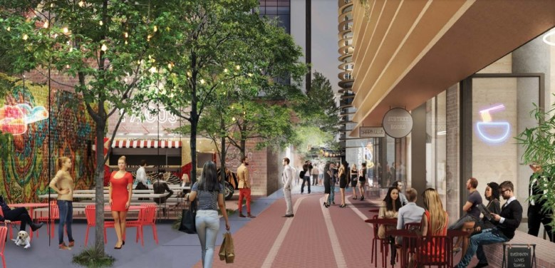 "Fountain Alley near ""The Energy Hub"" - Hayes Davidson/Westbank"