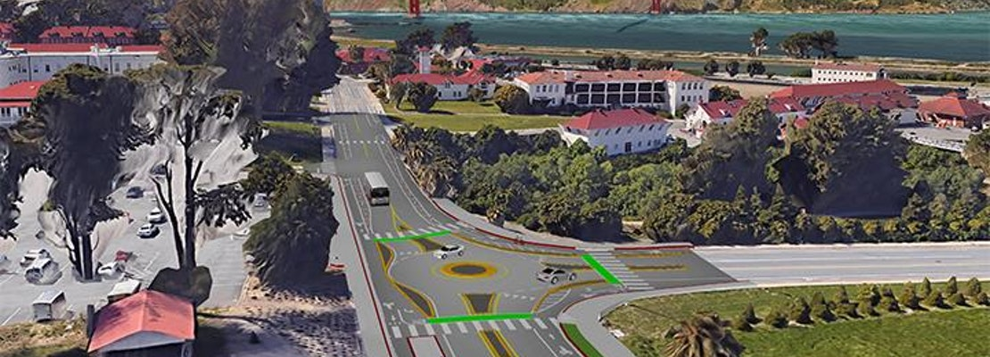 The Presidio gets a roundabout, and slew of new bike lanes