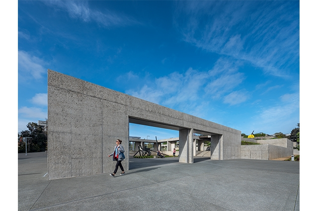 Photo: View of OMCA's new 12th St entrance into renovated campus and garden. ©2021 Tim Griffith. All rights reserved.