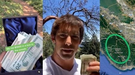 Treasure hunt for hidden cash box now underway in the Santa Cruz Mountains