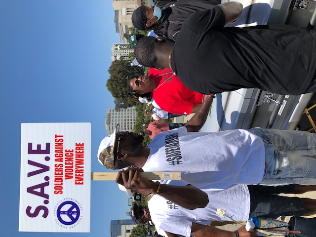 """Photo: """"Stand Up For A Safe Oakland"""" march/MJ Carter"""