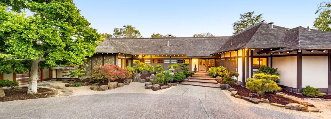 Atherton home for sale with unique Japanese-inspired design lists for $13MM