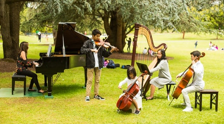 Flower Piano is underway in Golden Gate Park, continues through Tuesday