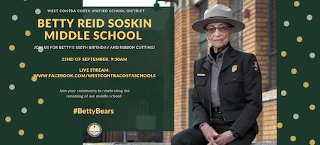 East Bay school renamed for iconic Richmond park ranger Betty Reid Soskin on her 100th birthday