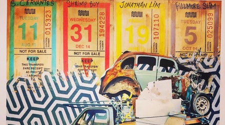Local artist shows Muni transfer-inspired works in the Haight