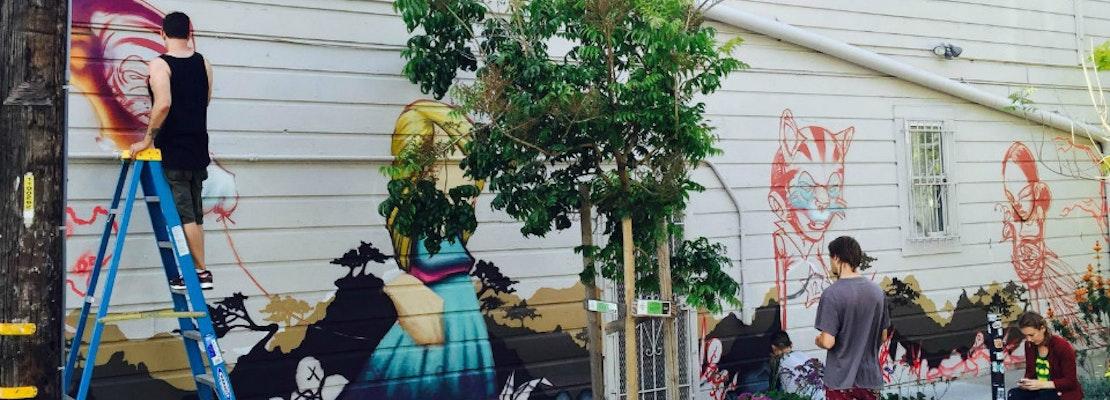 Artist Sam Flores Debuts New Mural In Linden Alley