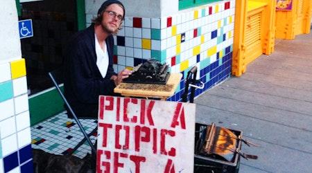 Pop-Up Poet Visits The Castro