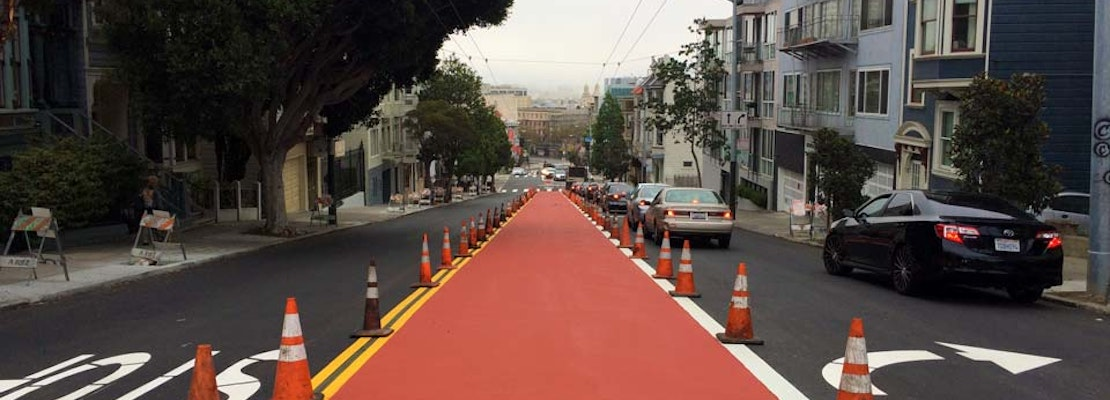 Checking In On Lower Haight Street's Muni-Only Lanes