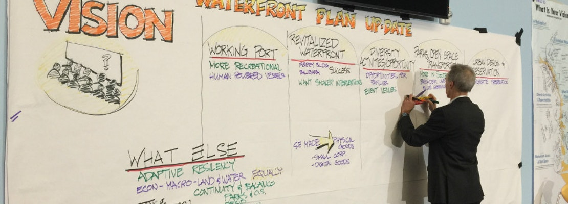 Community Shares Ideas For Port's Future At Waterfront Vision Workshop