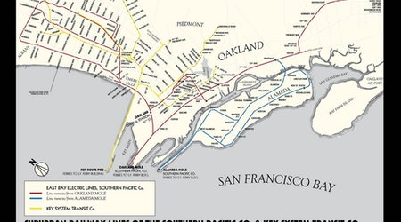 Hobbyist's map offers glimpse into lost routes of East Bay's 1920s streetcars