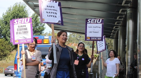 Laguna Honda Hospital staff walk out in protest of 'continuous' staffing shortages