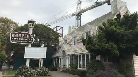Something's stirring at Telegraph Avenue's pink Hooper's Chocolates house