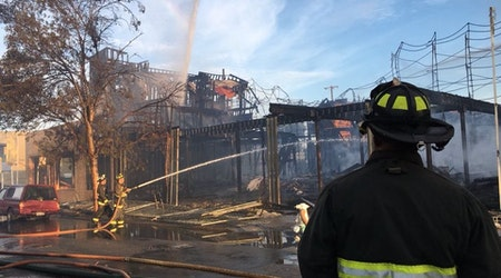 Fire crews battle blazes at 3 different West Oakland sites this morning