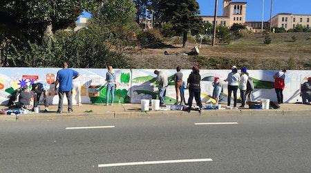 Precita Eyes Mural Outside Laguna Honda Hospital Nears Completion
