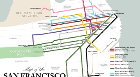 Transit-obsessed hobbyist debuts newest map: San Francisco's cable car system, circa 1892