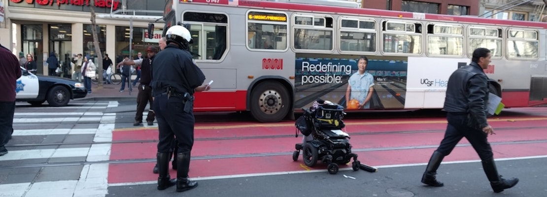 Woman In Wheelchair Struck By City Vehicle Making Left Turn At Seventh & Market [Updated]