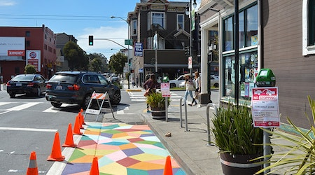 San Francisco's First On-Street Mural Underway At Madrone