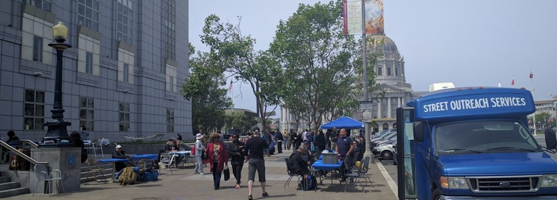 Pop-Up 'Care Village' For Homeless Residents Up & Running At Main Library