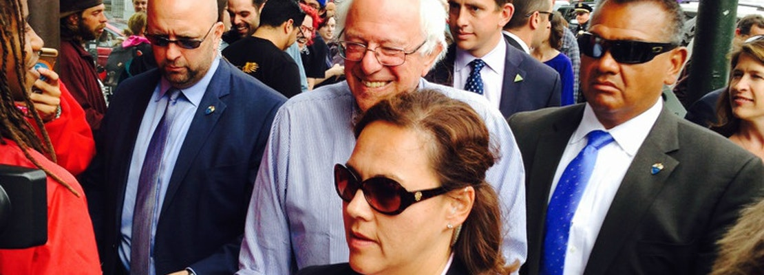 Bernie Sanders Breezes Through The Haight, Leaves Supporters Breathless