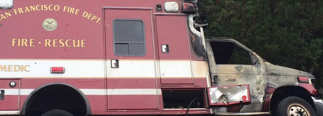 Ambulance Stolen From Tenderloin Crashes On Treasure Island Exit
