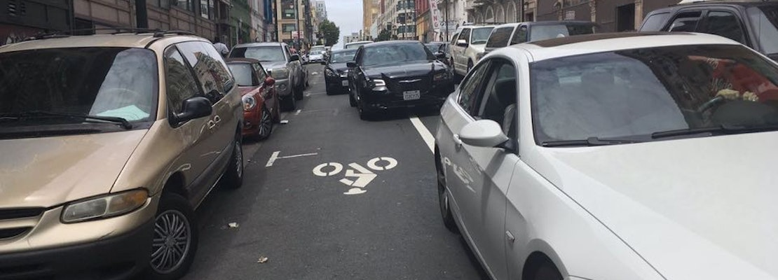Golden Gate Avenue Bike Lane Installed, But Is It Safe For Cyclists?