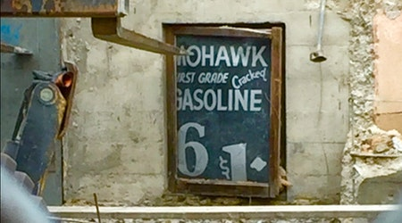 Piece Of Gasoline History Uncovered At Harding Theater Construction Site