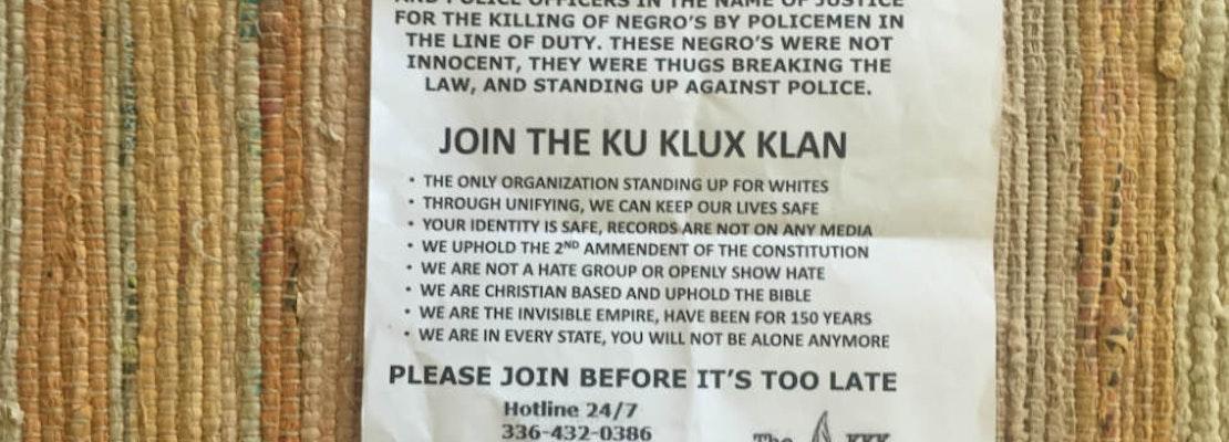 KKK Flyers Appear On Upper Haight Doorsteps