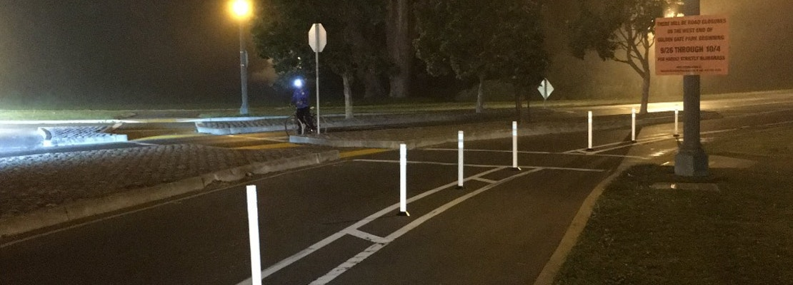 Golden Gate Park's Guerrilla Bike Lane Posts To Become Official In Activist Win