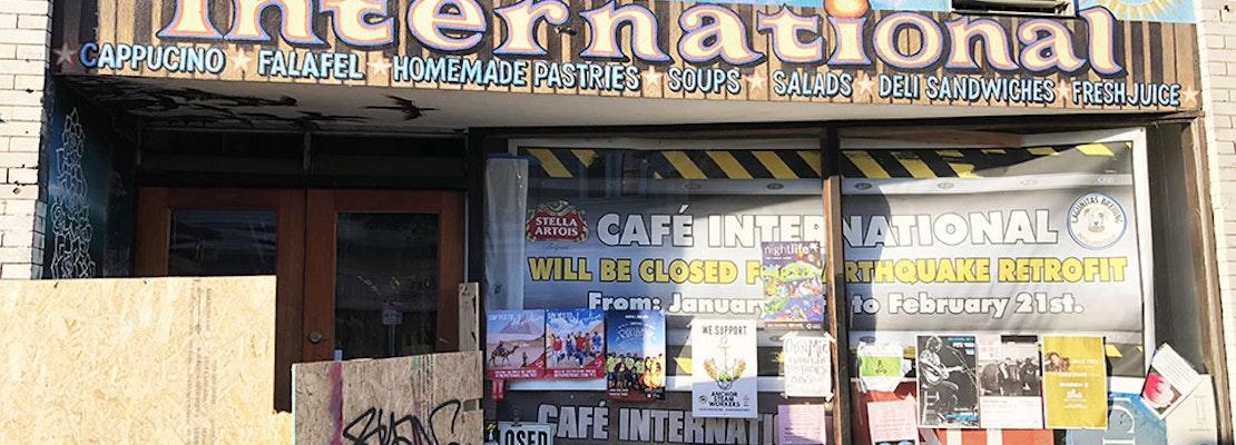 Lower Haight's Café International, Mad Dog in the Fog close for seismic retrofits