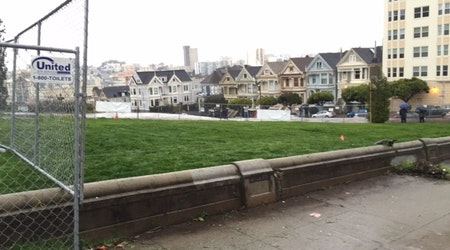 Lush Green Viewing Area Opens At Nearly Complete Alamo Square Park