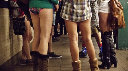 Transit Riders To Grin And Bare It For Tomorrow's 'No Pants Subway Ride'