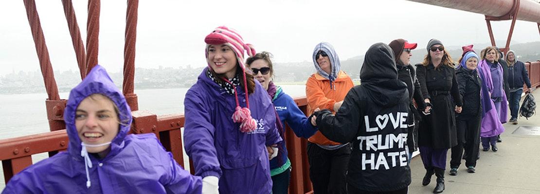 Scenes From The Golden Gate Bridge's 'Bridge Together' Demonstration