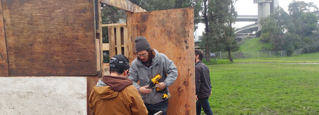 Activists Transform Dog Park Into Village For Homeless Residents