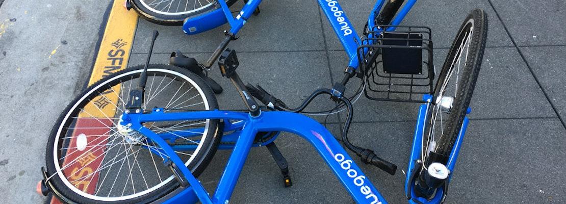 Controversial 'Bluegogo' Bikes Abandoned Along Castro Street