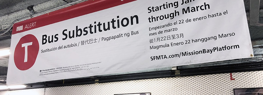 Muni's T-Third trains returning to service after 2-month bus substitution