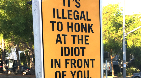 Page & Octavia neighbors bite back at honking drivers with April Fool's signs