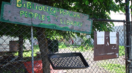 Fire Damages Historic Abandoned Library, Shuts Out Community Garden Project