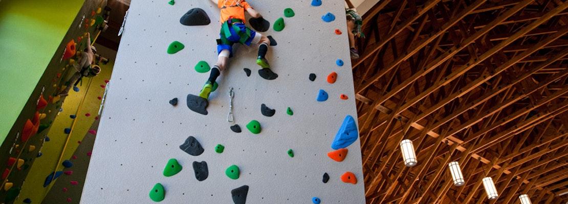 1st Public Rock Climbing Wall Unveiled At Renovated Glen Canyon Rec Center