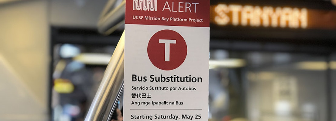 Muni's T-Third line to undergo another 10-day bus substitution