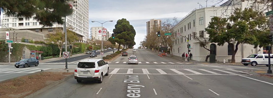 70-year-old woman dies after being hit by driver at Geary & Laguna