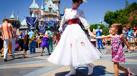 Happy place: Anaheim in Disneyland is celebrating its birthday soon, a flight away from Detroit