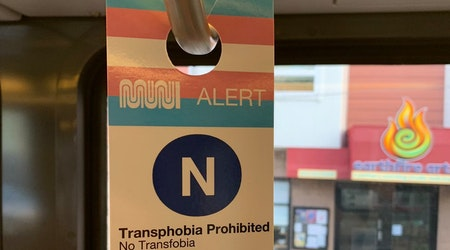 Unofficial Muni signage encourages riders to 'be gay, do crime'